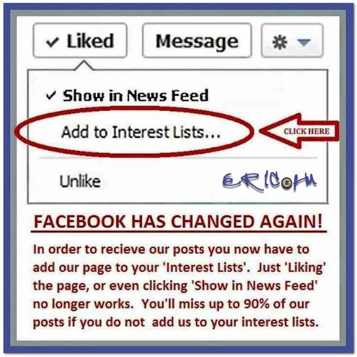 """Please add ERIC.fm Page to your FB """"add to interests"""""""