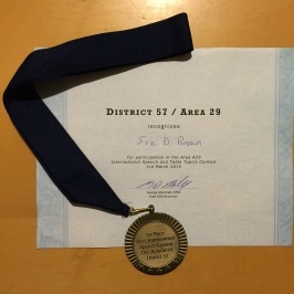 District 57 - Area 29 - 1st Place